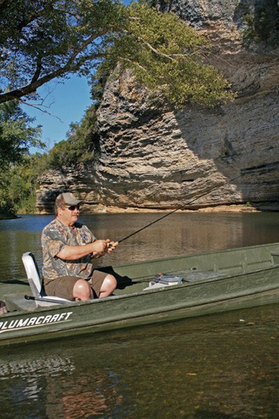 Photo of Ron Duncan fishing on the Buffalo River