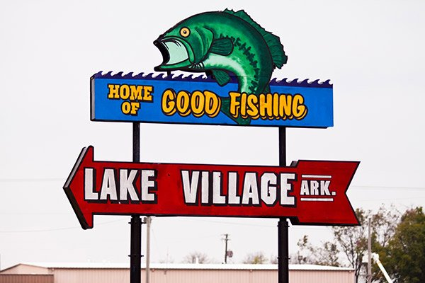 Home of Good Fishing sign
