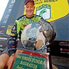 Thumbnail photo of Brent Chapman with his Angler Of The Year Trophy