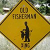 Thumbnail photo of an Old Fisherman Crossing sign