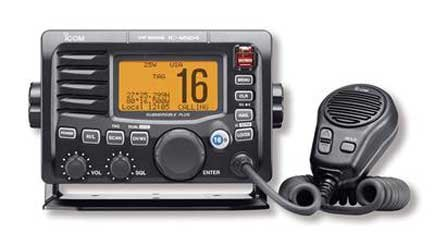 Photo of a GPS-equipped VHF radio