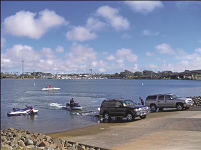 photo of Ski Beach boat ramp on Mission Bay