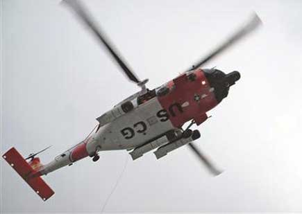 Photo of a US Coast Guard helicopter