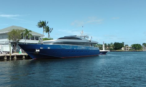 photo of a luxury yacht in Fort Lauderdale, Florida