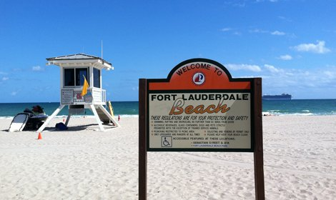 Welcome to Fort Lauderdale sign