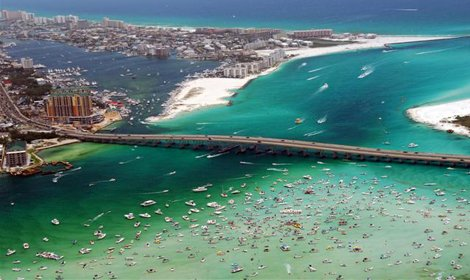 Aerial photo of Destin, Florida