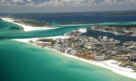 Aerial photo of Destin Florida