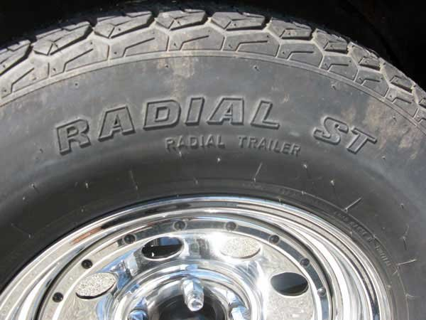 Photo of a radial trailer tire