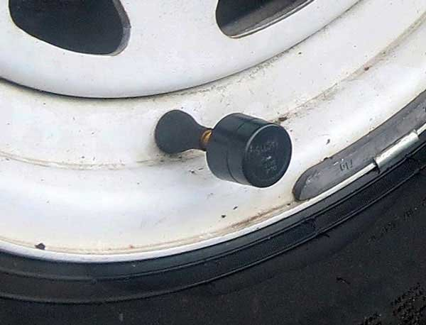 Photo of a tire pressure valve