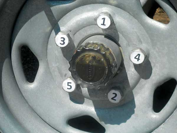 Photo Of Tire Torque Sequence