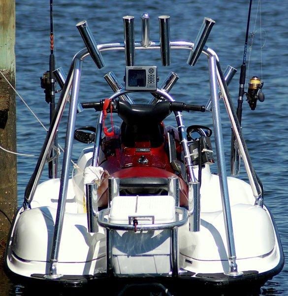 Jet ski fishing hook up and go trailering boatus magazine for Jet ski fishing setup