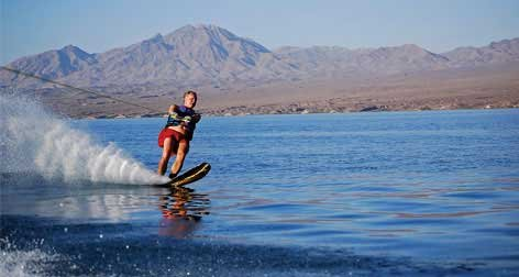 Photo of wakeboarding on Lake Mead