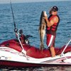 Thumbnail photo of Brian Lockwood fishing from his jet ski