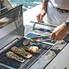 Grilling on a boat