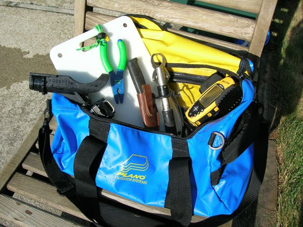 Photo of a Plano fishing gear toolbag