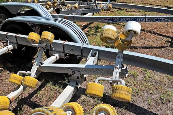 Photo of trailer rollers