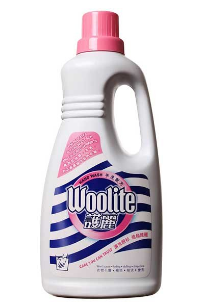 Photo of a Woolite bottle