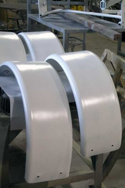 Photo of fenders ready to be painted
