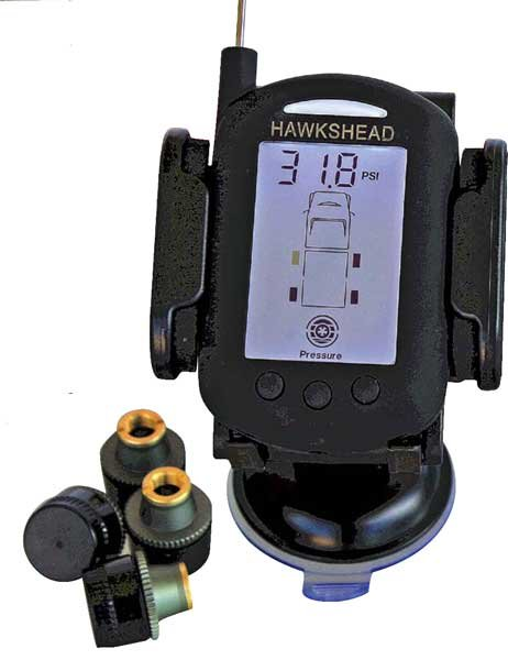 Photo of the HawksHead tire-pressure monitoring system