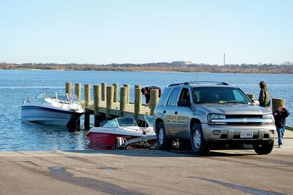 Photo of launching a boat from a dock