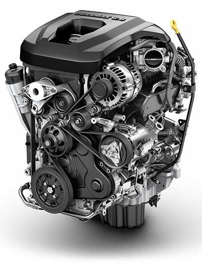 Photo of the 2015 Chevrolet Colorado turbo diesel engine