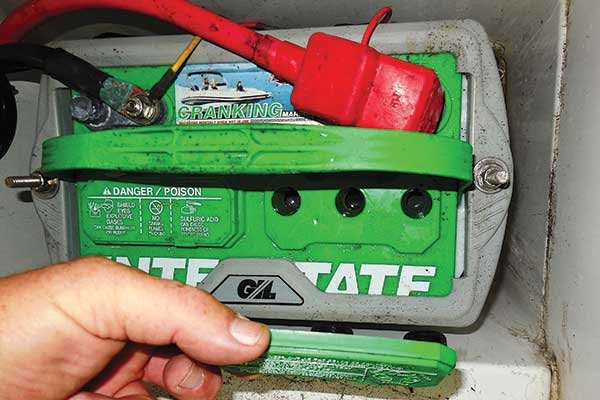 Photo of boat battery check