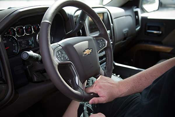 Photo of truck steering wheel