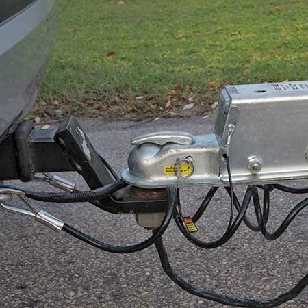 Photo of a trailer hitch ball and coupler