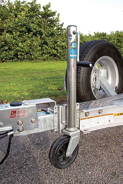 Photo of trailer jackstand