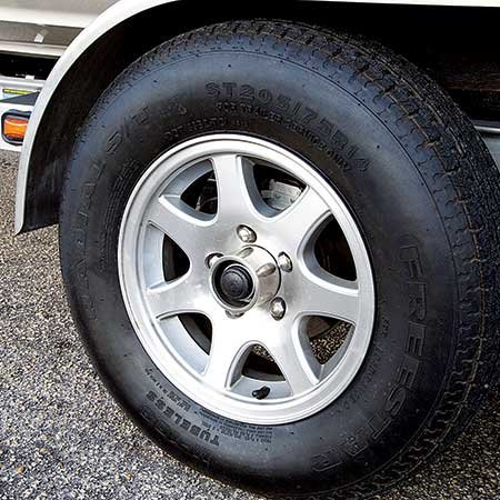 Photo of a trailer tire