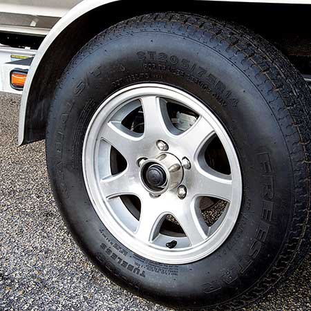 Photo of trailer tire