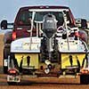 Thumbnail photo of towing a boat on a trailer rear view