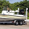 Thumbnail photo of towing trailerable boat