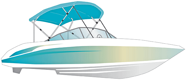 Boat with bimini illustration