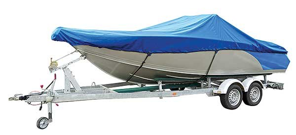 Photo of canvas boat cover