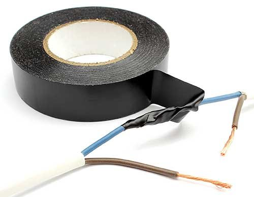 Photo of electrical tape and wires
