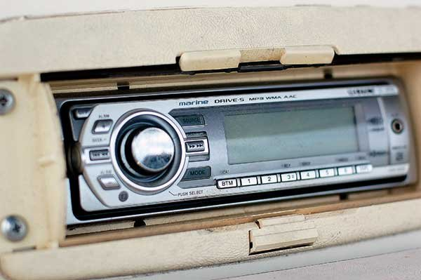 Photo of a marine stereo