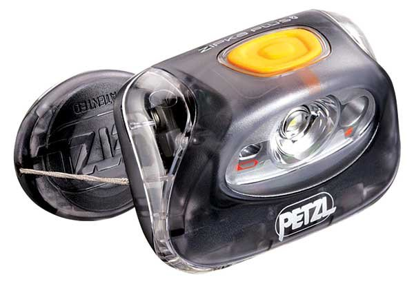 Photo of a Petzl Zipka headlamp