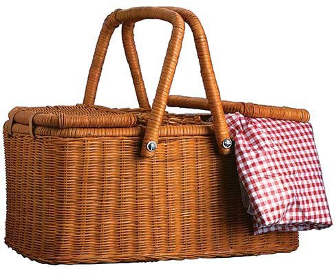 Photo of a picnic basket
