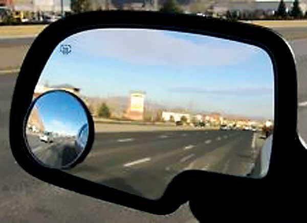 Photo of a truck side view mirror