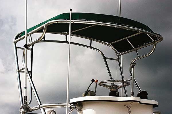 Photo of a T-top for center console boat