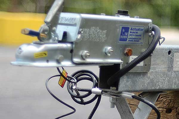 Photo of a trailer tongue jack