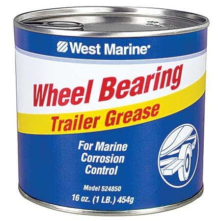 Photo of a can of wheeling bearing trailer grease