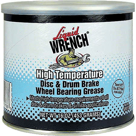 Photo of disc drum wheel bearing grease