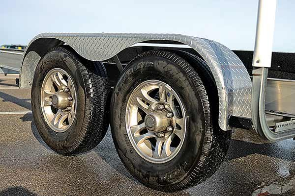 Photo of a dual-axle trailer tires