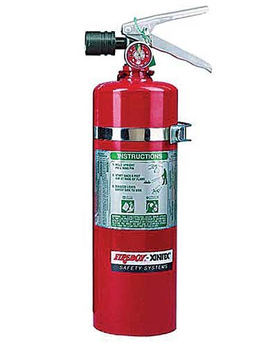 Photo of a fire extinguisher