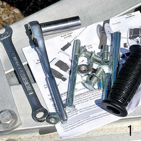Photo of tools needed for winch replacement