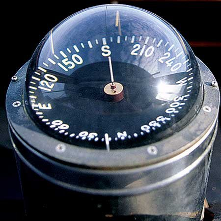 Photo of a boat compass