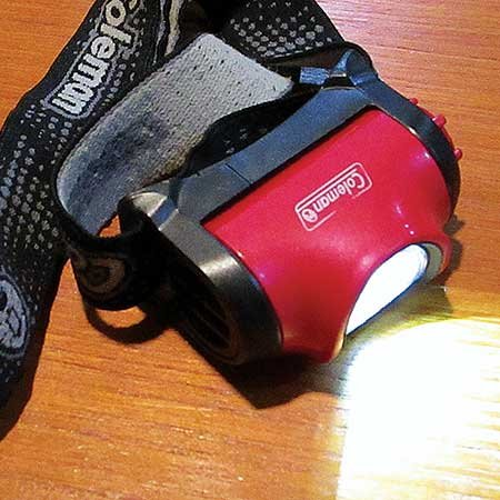 Photo of a Coleman head lamp