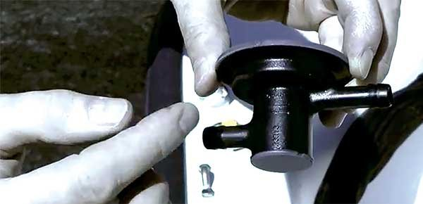 Photo of installing a fuel demand valve